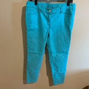 Cache teal skinny jeans size 10 onceloved